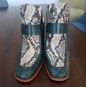 Zara snakeskin mules